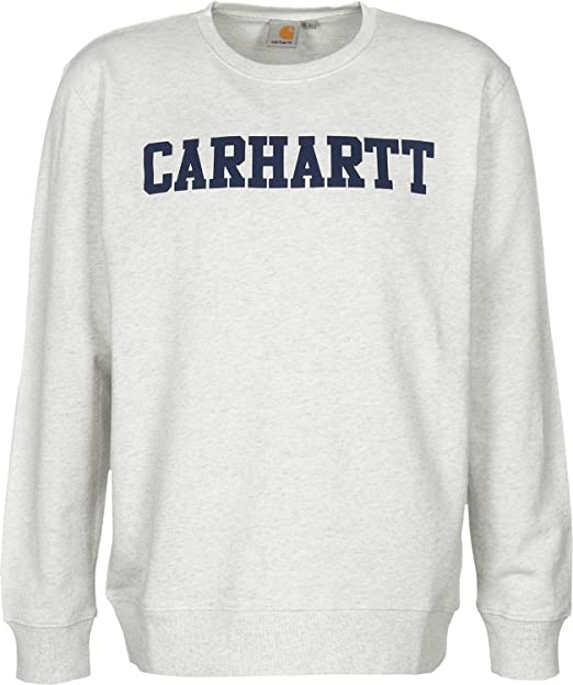 Carhartt WIP College Sudadera XXL ash heather/blue: Amazon.es: Ropa y accesorios