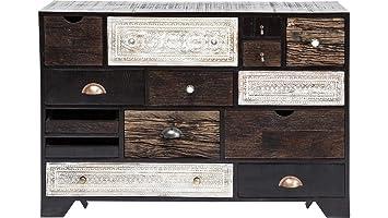 Kommode schwarz holz  Kare 79103 Kommode, Holz, schwarz, 35 x 114 x 80 cm: Amazon.de ...