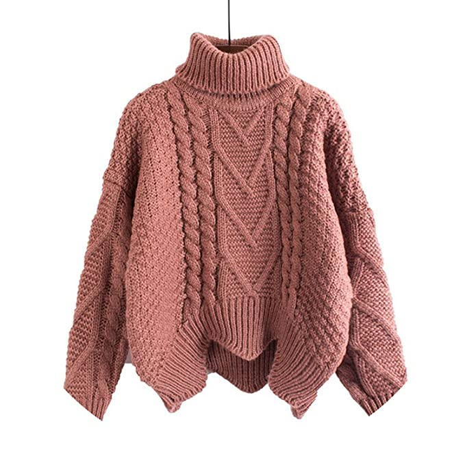 7bcc1cc27 Sweater Loose Pullover Women Short Bat Sleeves Lazy Wind Thick Wool Coat  Sweaters Pull Pullovers