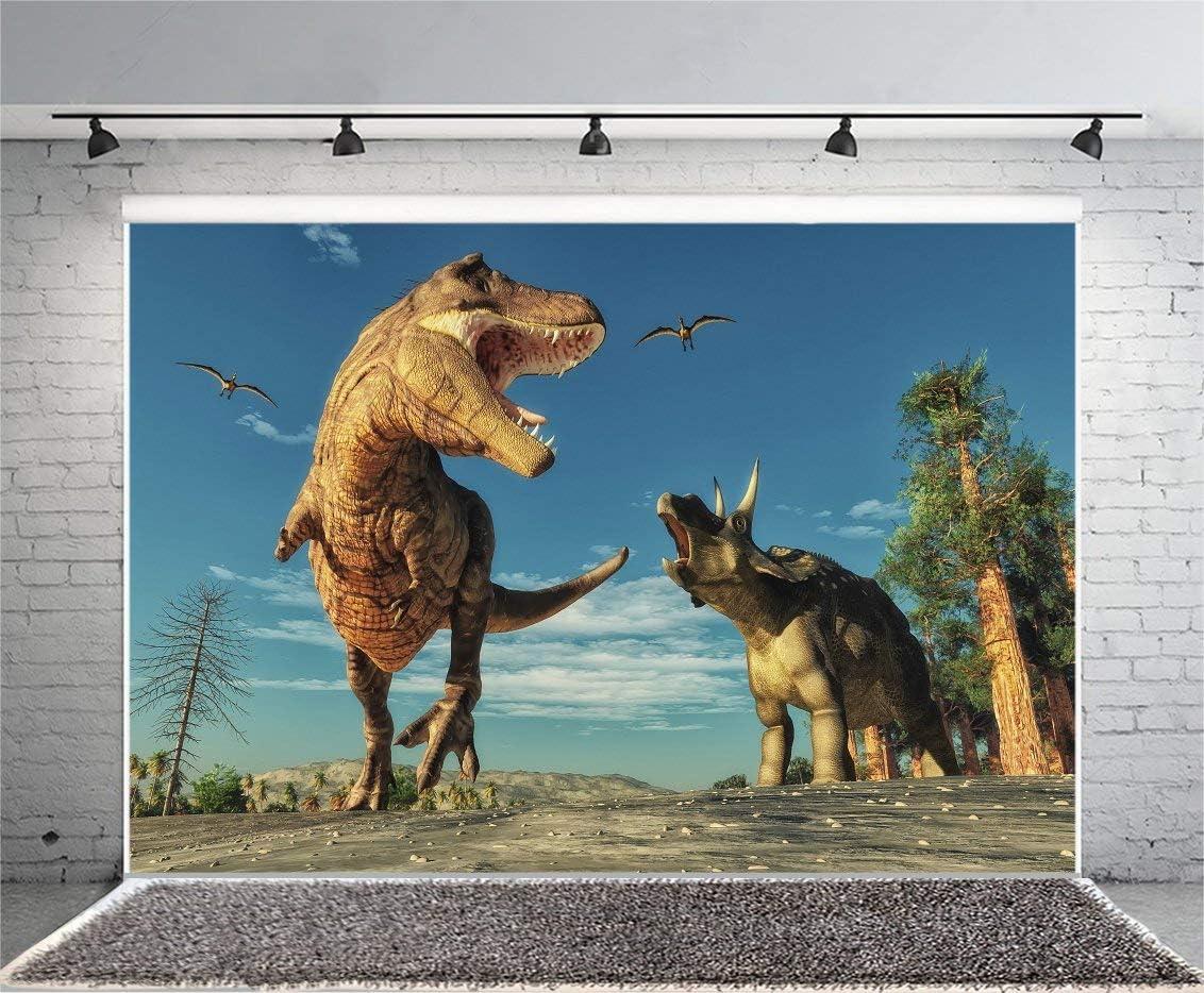 GoEoo 9x6ft Dinosaur Photography Backdrop Jurassic Sauropoda Background Photo Props Baby Shower Kids Children Birthday Party Decoration