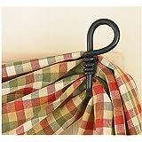 Curtain Hooks - Iron - Forged Loop Pair