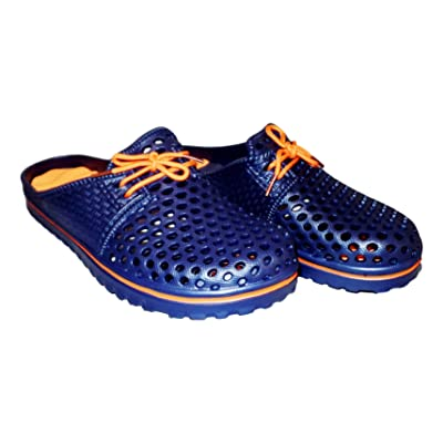101 BEACH Mens Lace Front Slide Sandal   Slippers
