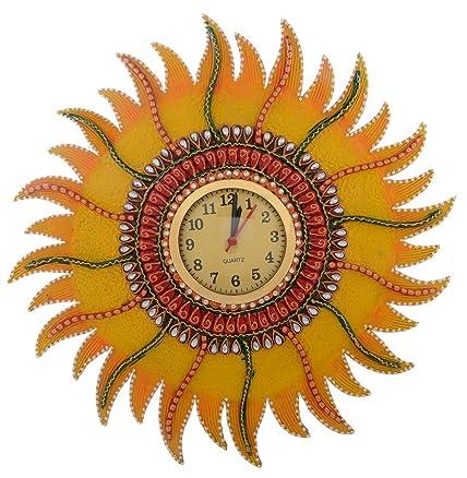 Buy Jaipurcrafts Designer Sun Wall Clock Online At Low Prices In