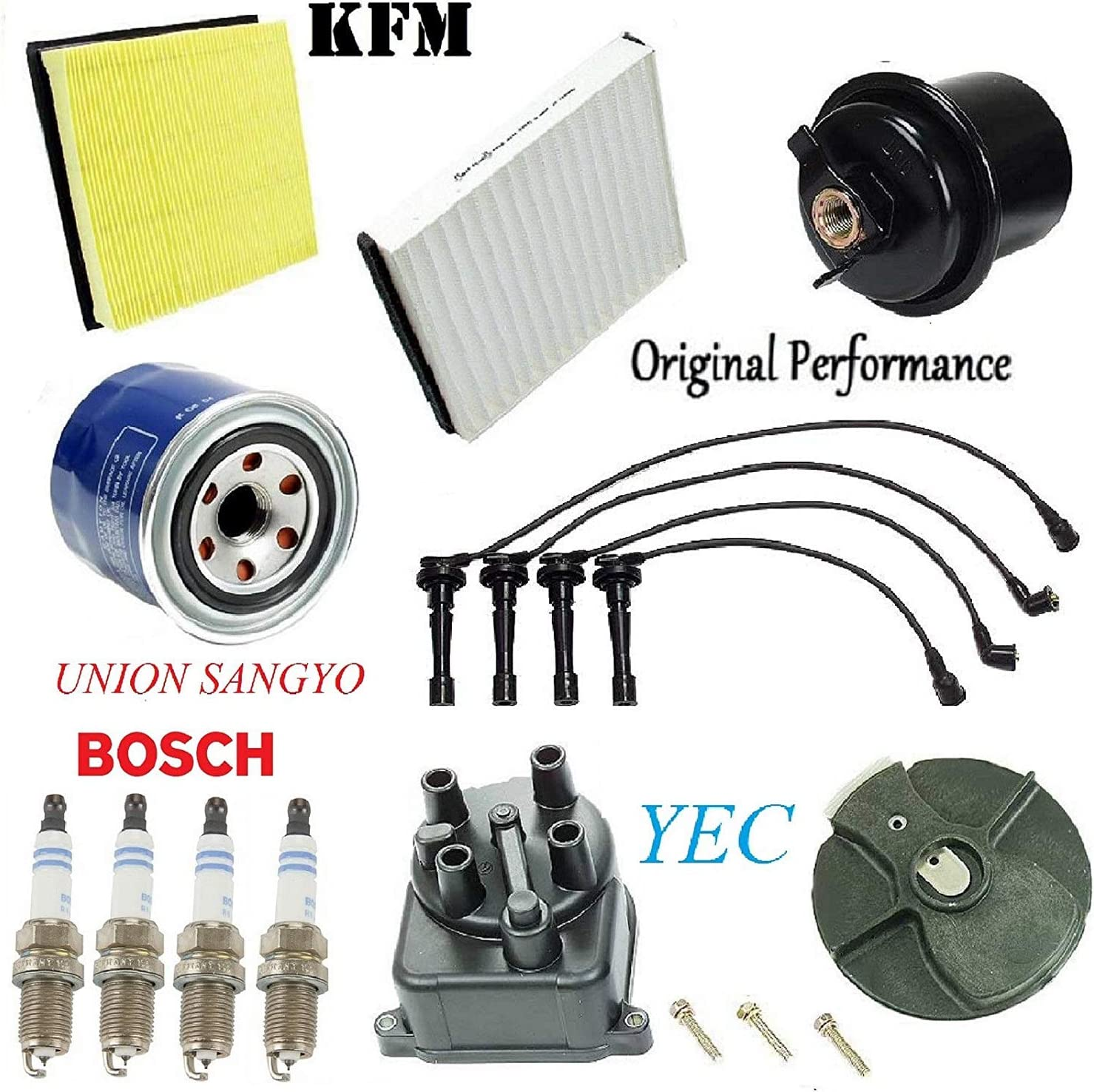 Tune Up Kit with Filters Cap Rotor Plugs Wire Set FIT Honda CR-V 2.0L 1998-1999 2001