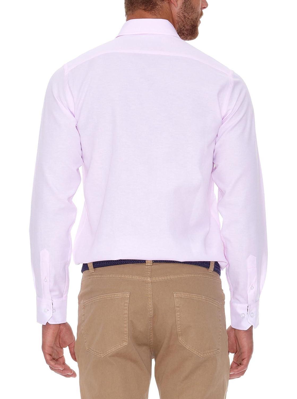 POLO CLUB Camisa Hombre Oxford Rosa S: Amazon.es: Ropa y accesorios