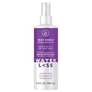 Waterless Heat Shield Protect & Re-Style 6.4 Fl Oz | Sulfate-Free | For All Hair Types