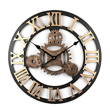 Mrke Horloge Murale Geante 58cm 4 Gear Horloge Murale Silencieuse