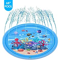 mafiti Sprinkler for Kids Splash Pad Wading Pool for Learning Gaming Children's Sprinkler Pool, Outdoor Swimming Pool for Kids Dogs Summer Gifts