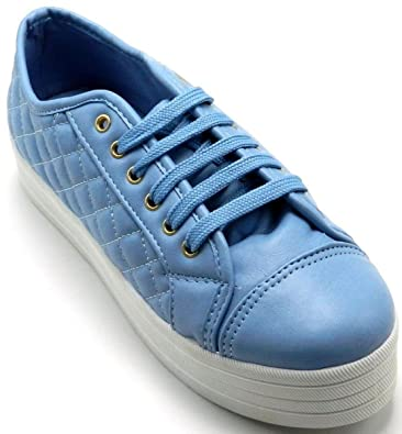 c71db5f4566 Women s Breckelle Quilted Leather Platform Slip On Sneaker Shoes…