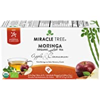 Miracle Tree - Organic Moringa Superfood Tea, 25 Individually Sealed Tea Bags, Apple & Cinnamon (Keto, Detox, Weight…