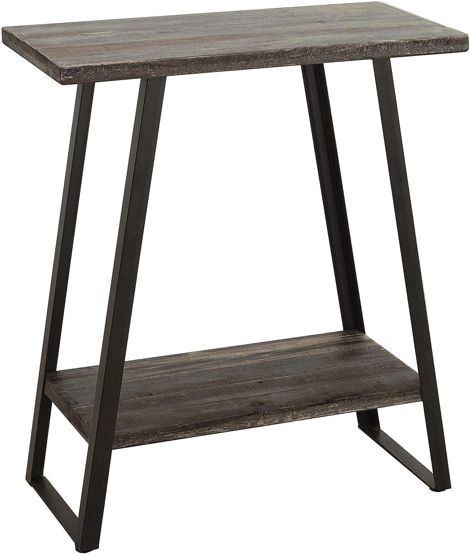 Amazon Brand – Ravenna Home Aubree Mid-Century Modern Shelf Storage Side Table, 23.6