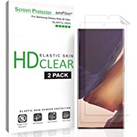 amFilm Galaxy Note 20 Ultra Screen Protector Film (2 Pack), Case Friendly HD Clear (Fingerprint Scanner Compatible…