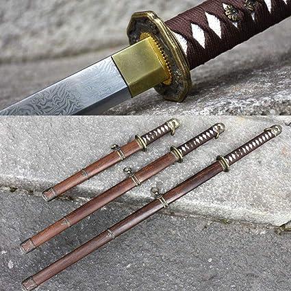 Amazon.com: Juego de cuchillos de espada militar japonesa ...