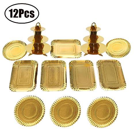 Amazon.com: Agyvvt - Juego de 12 soportes para cupcakes ...