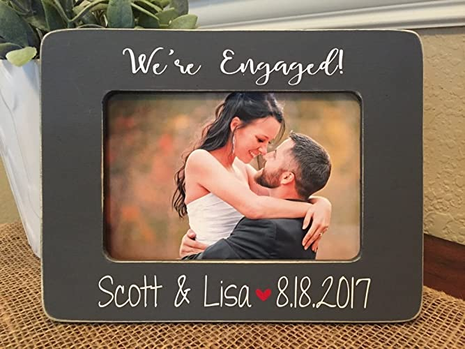 engagement gift personalized engagement frame wedding gift wedding frame she said yes - Engagement Photo Frame