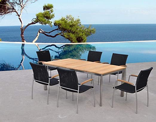 Melbourne - Table et Chaises de jardin haut de gamme en teck ...