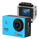 QUMOX Actioncam SJ4000, Action Sport Kamera Camera Waterproof, Full HD, 1080p Video, Helmkamera, Blau