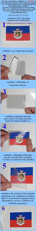 Michael /& Rene Pfl/üger Barmstedt 8,4 x 5,4 cm Autoaufkleber Liberty auf USA Fahne Flagge Sticker Aufkleber Sticker f/ürs Auto Motorrad Handy Laptop