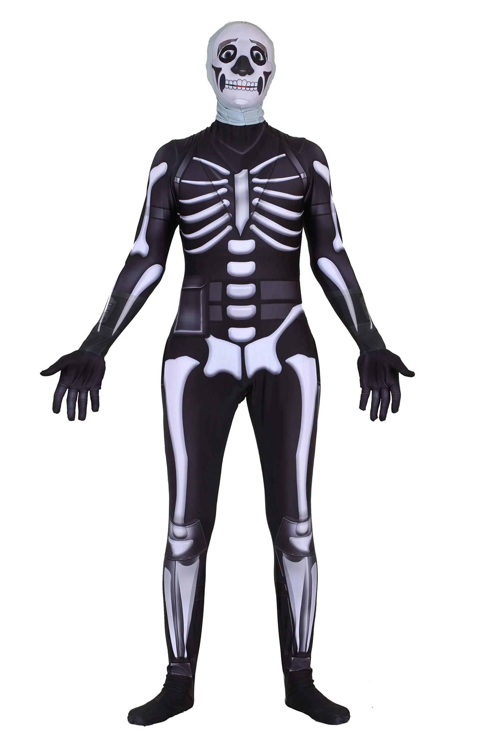 Riekinc Halloween Spandex Zentai Cosplay Costume Skull Trooper Costume  Adult/Kids - Harold Wilkinson's Place