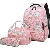 Mochila Escolar Unicornio Niña Infantil Adolescentes Sets de Mochila Backpack Casual Set con Bolsa del Almuerzo y…