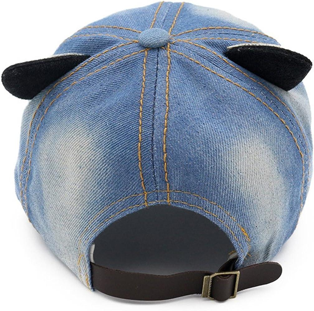 Cappellini Con Visiera Piatta Bambini Orecchie Di Gatto Primavera Estate Cappello Cappellini baseball