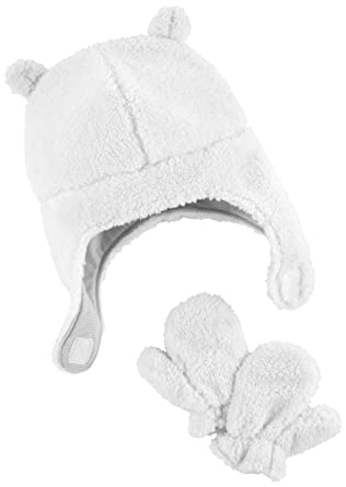 90e053fdb3a Amazon.com  Simple Joys by Carter s Baby Hat and Mitten Set  Clothing