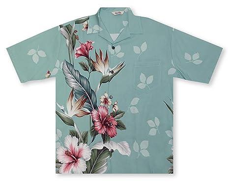 a5941abbe Hilo Hattie Hibiscus Paradise Men's Shirt Hawaiian Shirt at Amazon ...