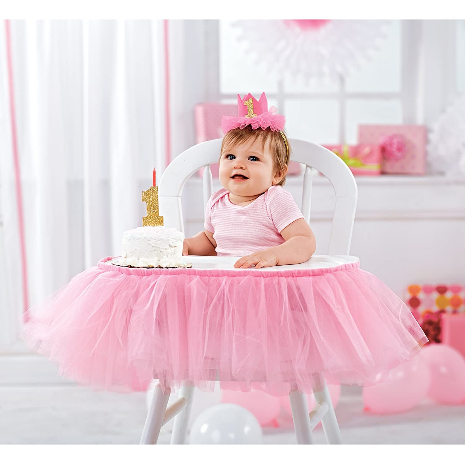 Amazon Mud Pie Topper And Crown Set First Birthday Princess