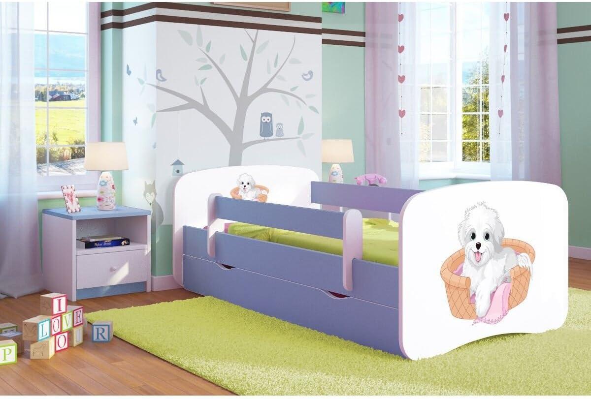 Cama infantil pequeño perro 80 x 160 cm) con Barriere ...