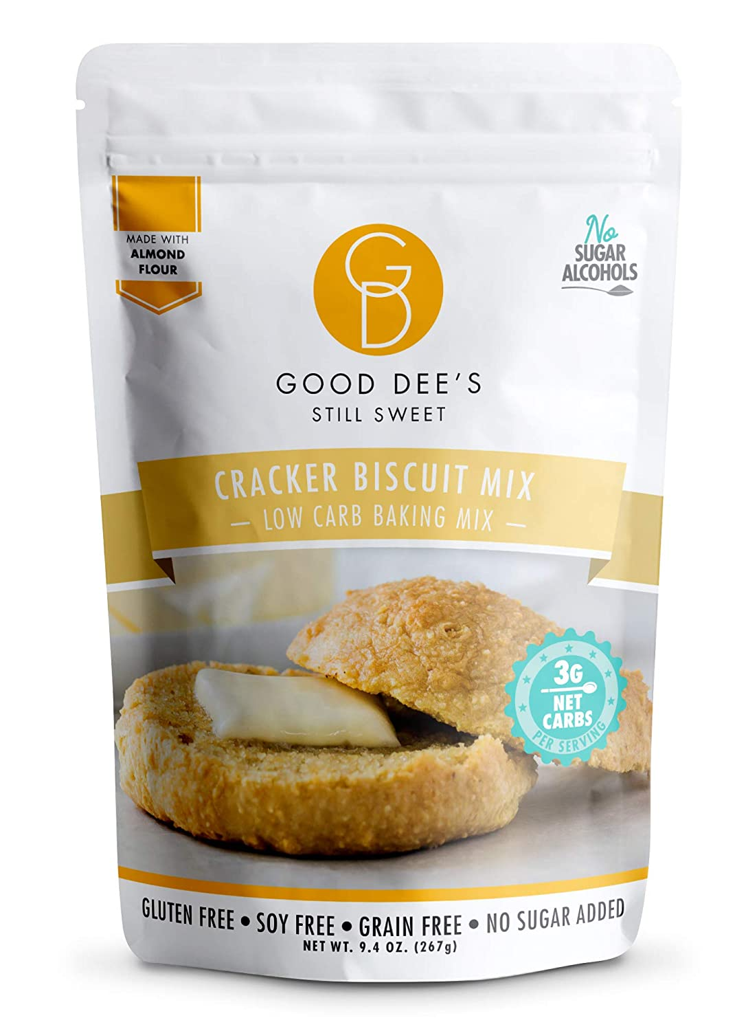 Good Dee's Cracker Biscuit Mix - Low Carb Keto Baking Mix (3g Net Carbs, 10 Servings) | Sugar Alcohol-Free, Gluten-Free, Grain-Free, Soy-Free & IMO-Free | Diabetic, Atkins & WW Friendly