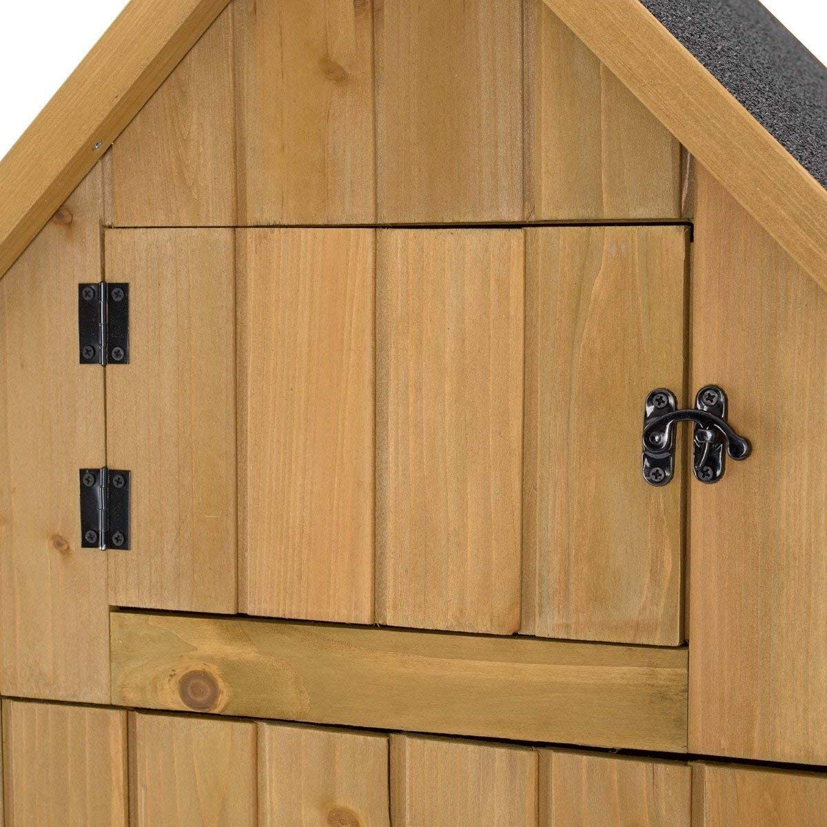 Compact Utility Sentry Unit CHRISTOW Small Garden Shed 6ft Shelves Roof Hatch Lockable Door Slope Roof Tall Slim Wooden Outdoor Storage Shed