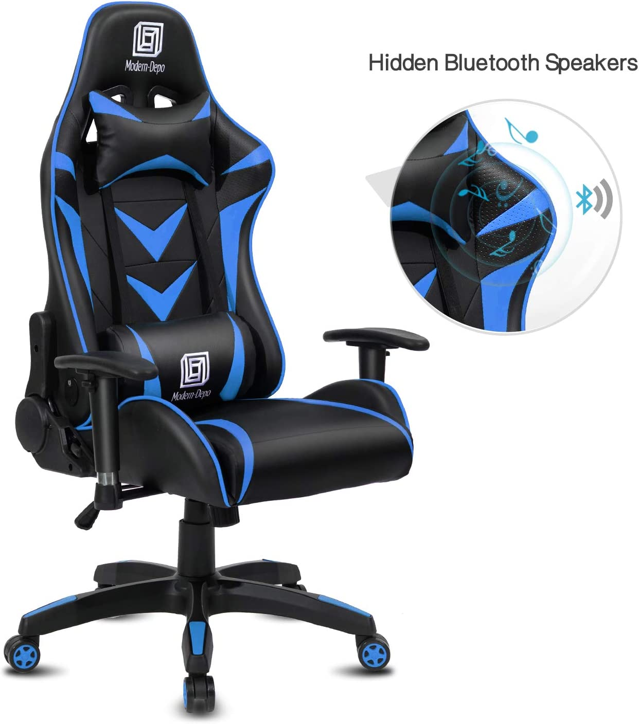 Modern-Depo Gaming Chair with Bluetooth speakers