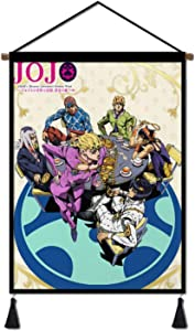 INNISFROG Premium Wall Art Hanging Poster,Japanese Anime Canvas Painting with Scroll Wood Hanger Decor for Home Dorm Office 18x24 Inch