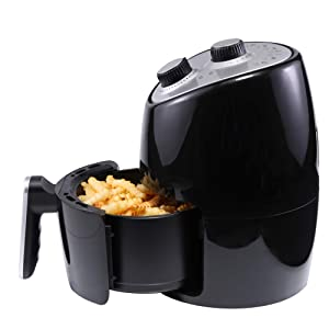 Continental Electric CE-DF309 Air Fryer 2.0 Liter, Black