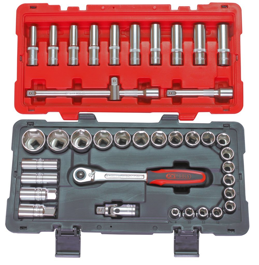 Coffret de douilles et accessoires ULTIMATE 1/4'' - 1/2'', 101 piè ces 101 pièces KS Tools 922.0701