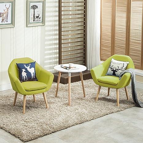 Amazon.com: Magshion - 2 sillas tapizadas de tela con 2 ...