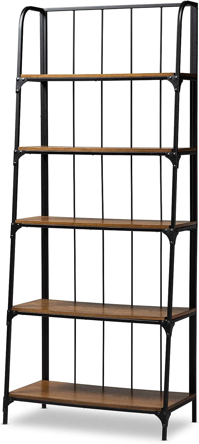 Amazon Com Baxton Studio Shelving Brown Black Furniture Decor