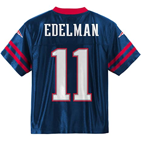 Outerstuff Julian Edelman New England Patriots  11 Navy Blue Youth Home  Player Jersey (Large 8621858ae