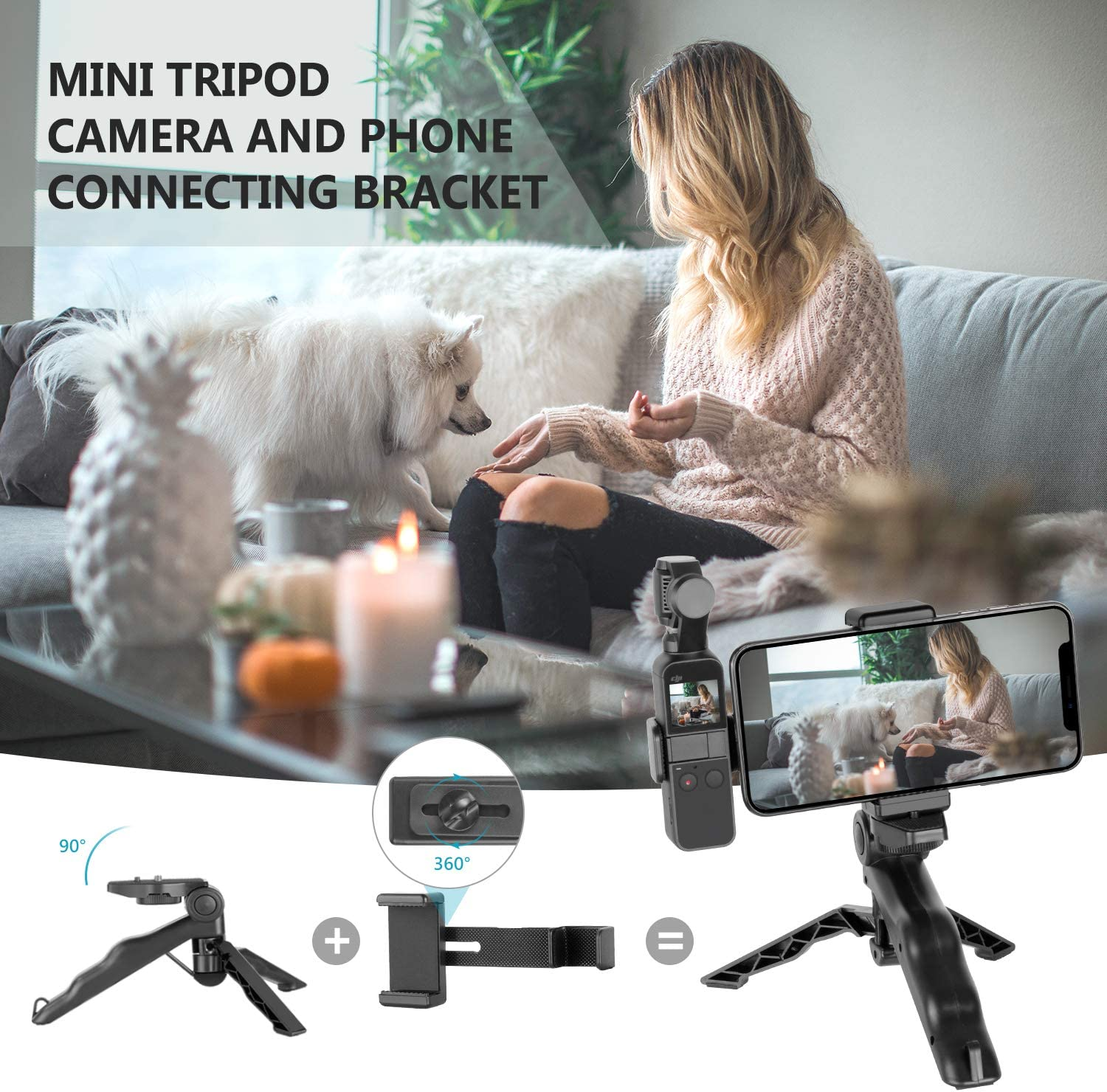 Accessory Bundle Kit with Carry Case//Phone Holder//Charging Base//Tripod//Car Suction Cup//Bicycle Bracket and More Neewer 33-in-1 Expansion Kit Compatible with DJI OSMO Pocket Action Camera Mounts