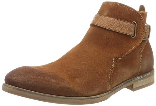 Hudson London - Botines de Cuero Hombre, Color Marrón, Talla 43 EU: Amazon.es: Zapatos y complementos