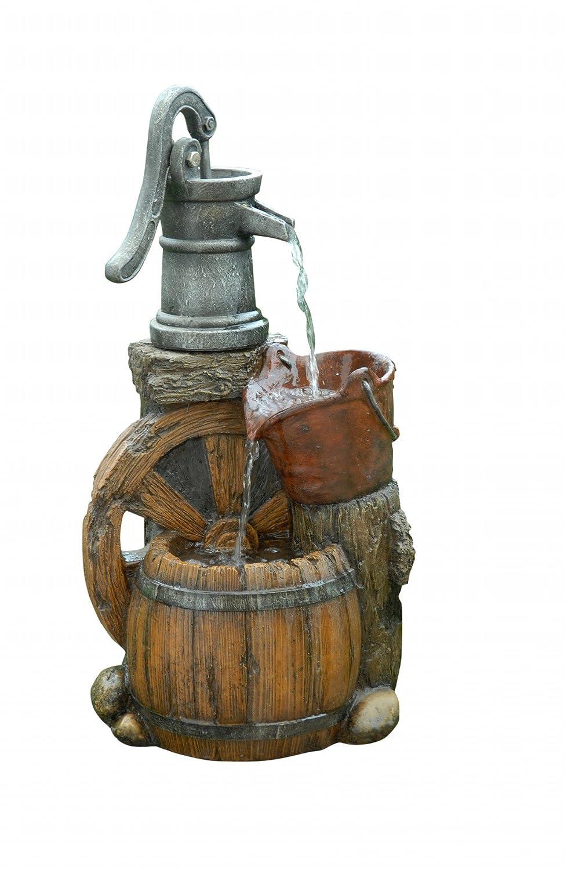Good Amazon.com : Alpine Corporation Old Fashion Pump Barrel Fountain : Indoor  Fountains : Garden U0026 Outdoor
