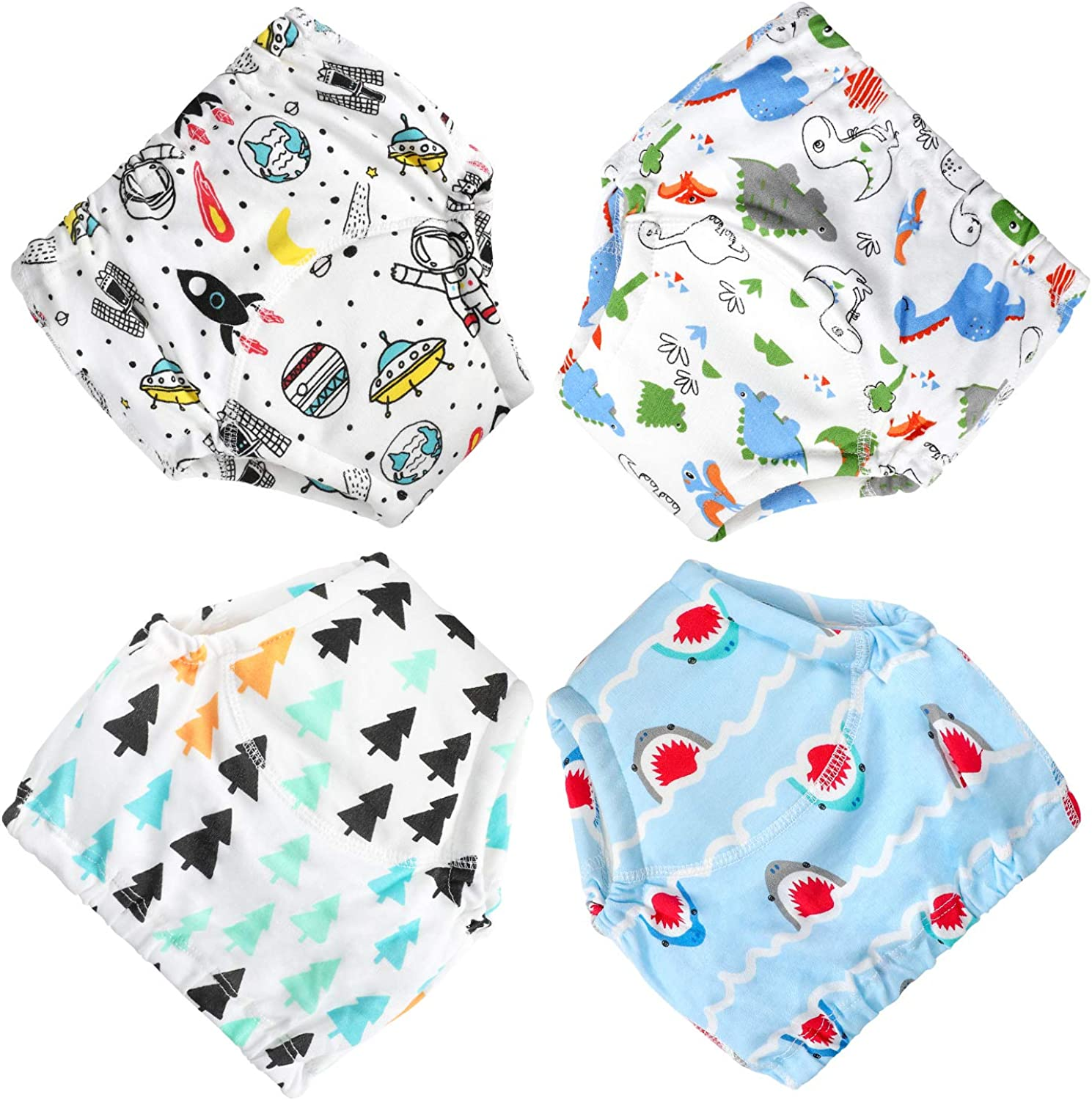 Washable and Reusable-2T-Boys Cotton Training Pants Toddler Potty Training Underwear for Boys and Girls