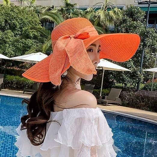 YJLGRYF Viseras Sombrero para el Sol Sombrero de Paja Sombrero de ...