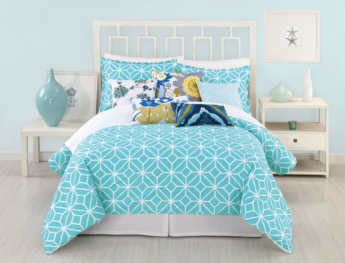 sets floral comforters piece blue queen bedding trellis comforter red taupe c set