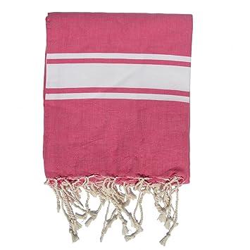 Tamaño Extra grande de playa manta algodón (180 x 240 cm) - estilo zusenzomer - rosa: Amazon.es: Jardín