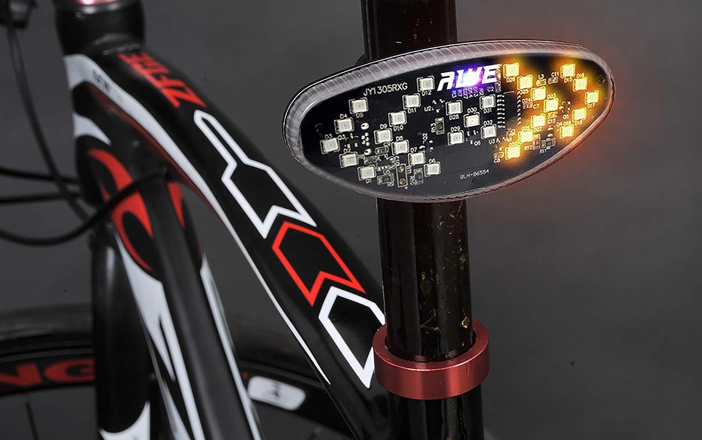 AWE - Luz Trasera para Bicicleta (inalámbrico, Mando a Distancia ...