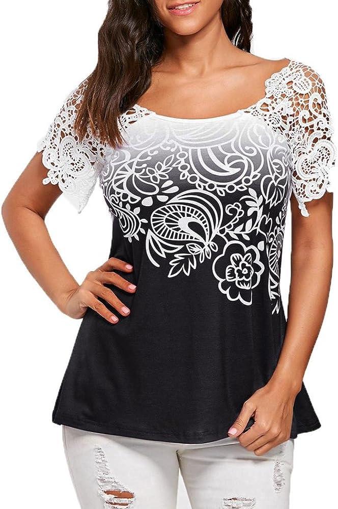 Xinantime_Blusa de mujer Camisetas Mujer Verano Elegante Camisetas ...