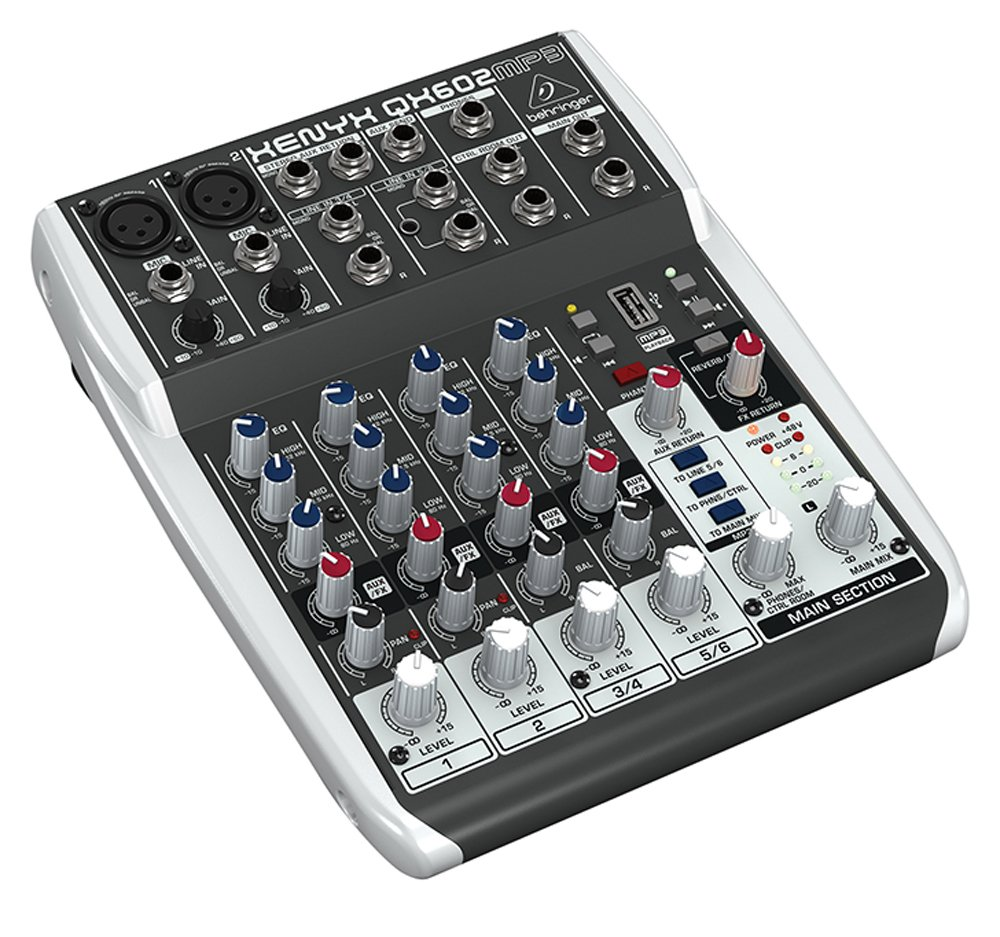 Behringer XENYX QX602MP3 analogico mixer MUSIC Group