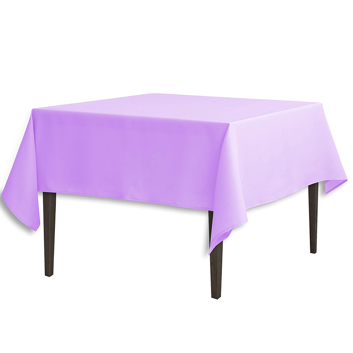 LinenTablecloth 85-Inch Square Polyester Tablecloth Lavender 85SQR-010186