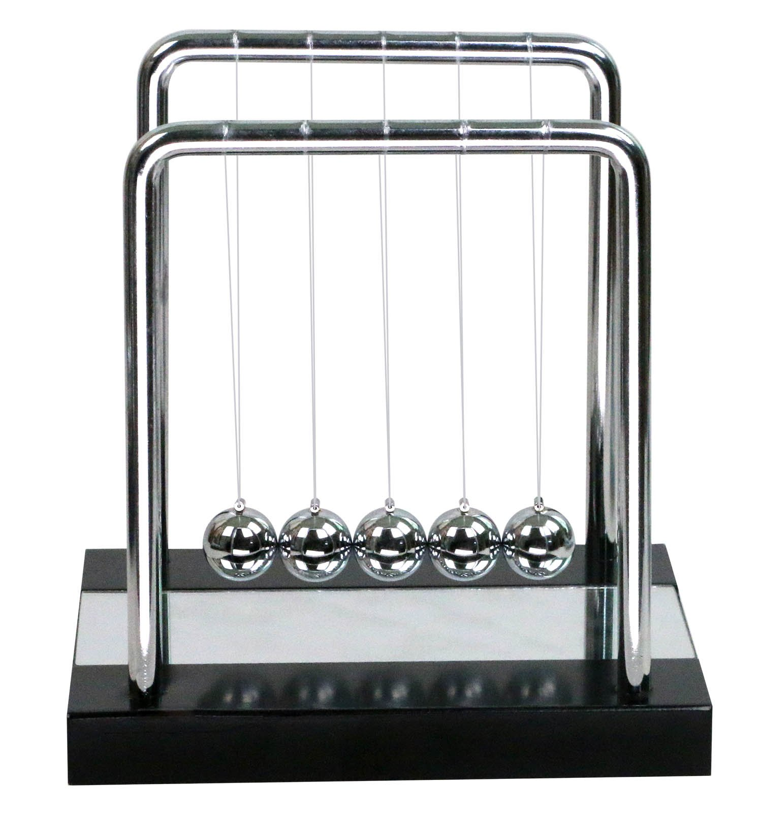 BOJIN Mirror Newton's Cradle Balance Ball Science Kinetic Energy Sculpture - Medium Mirror by BOJIN (Image #2)